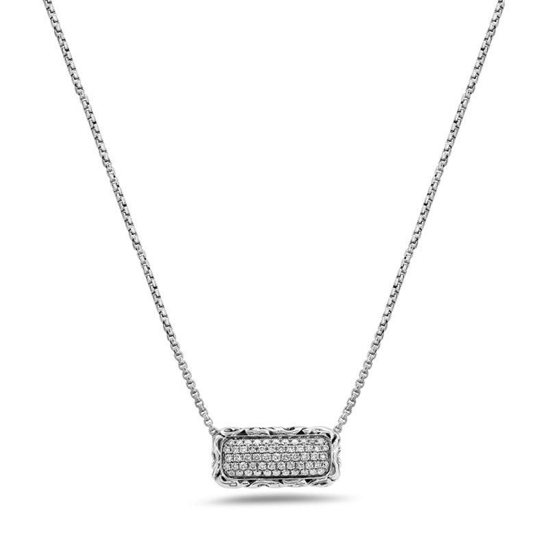 6f41e54ae015 Charles Krypell White Diamond Pave Necklace - 4-6977-SWHTP
