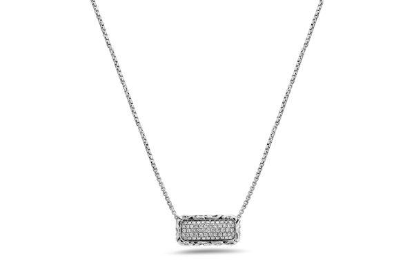 Large image of Charles Krypell White Diamond Pave Necklace - 46977SWHTP