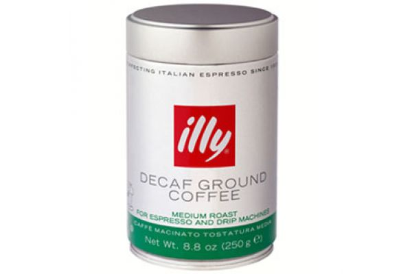 illy Ground Espresso Coffee Decaffeinated 8.8 Oz - 0493ST