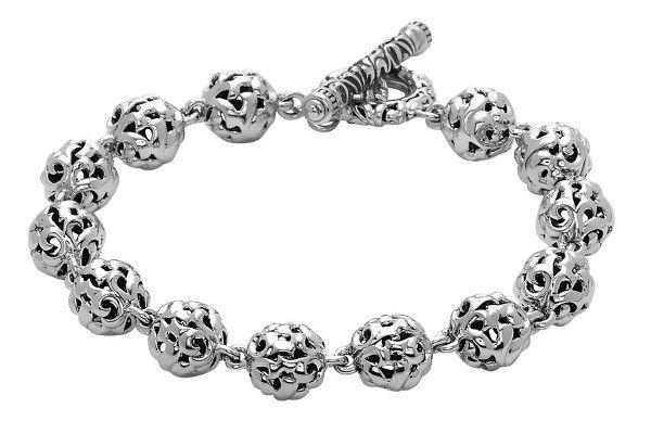 Charles Krypell Ivy Bead Sterling Silver Bracelet - 5-6823-S