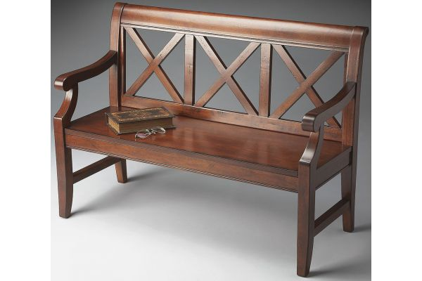 Large image of Butler Specialty Company Gerrit Plantation Cherry Bench - 5048024