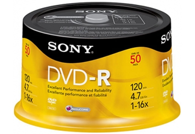Sony - 50DMR47RS4 - Recordable DVD Discs