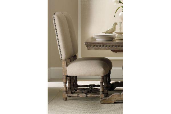 Large image of Hooker Furniture Taupe Antique Sorella Upholstered Side Chair - 5107-75510