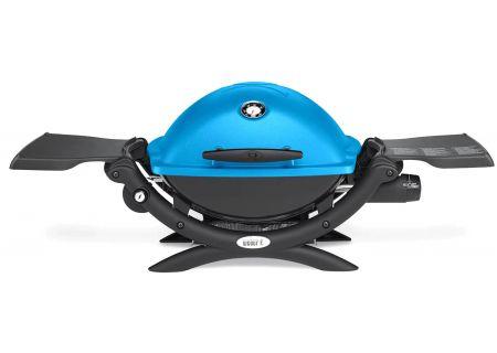 Weber Q 1200 Blue Portable Liquid Propane Gas Grill - 51080001