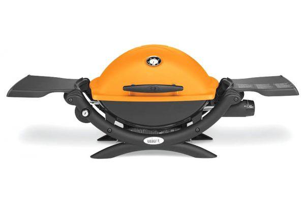 Weber Q 1200 Orange Portable Liquid Propane Gas Grill - 51190001
