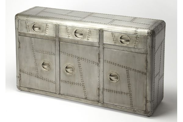 Large image of Butler Specialty Company Yeager Gray Console Cabinet - 5152330