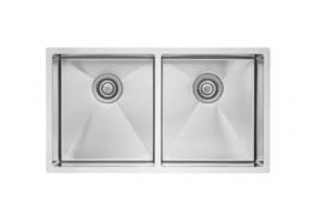"Blanco Precision 16"" R10 Medium Equal Stainless Steel Double Bowl Sink  - 516220"
