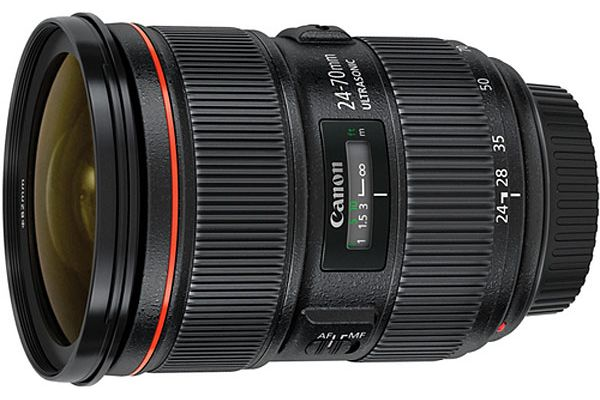 Large image of Canon EF 24-70mm Standard Zoom Camera Lens - 5175B002