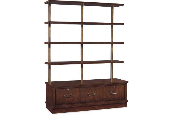 Large image of Hooker Furniture Home Office Palisade Bookcase - 5183-10446