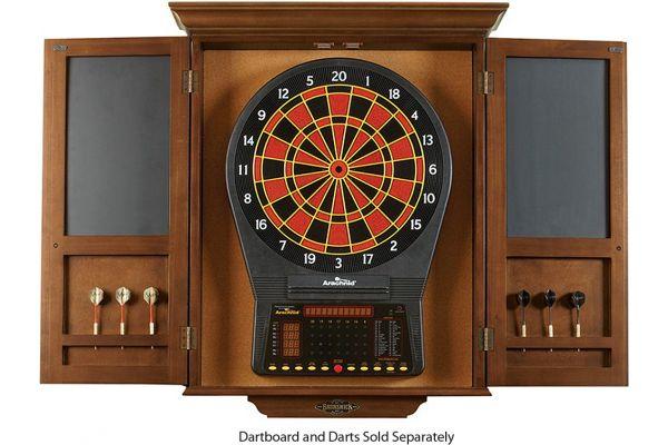 Large image of Brunswick Chestnut Dartboard Cabinet - 51870575002