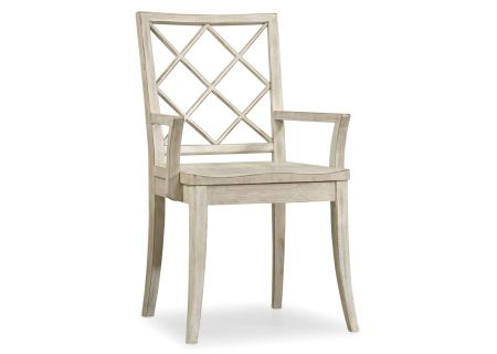 Hooker Furniture Hatteras White Sunset Point X Back Arm Chair - 5325-75300