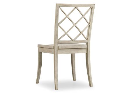 Hooker Furniture Hatteras White Sunset Point X Back Side Chair - 5325-75310