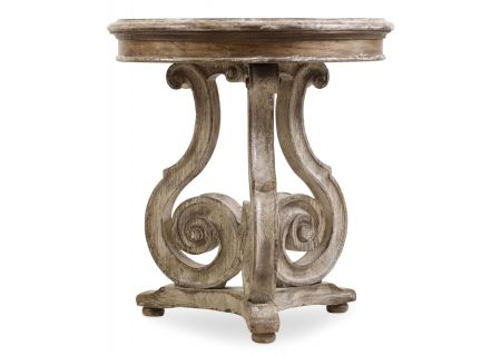 Hooker Furniture Caramel Froth And Paris Vintage Chatelet Scroll Accent Table - 5351-50002