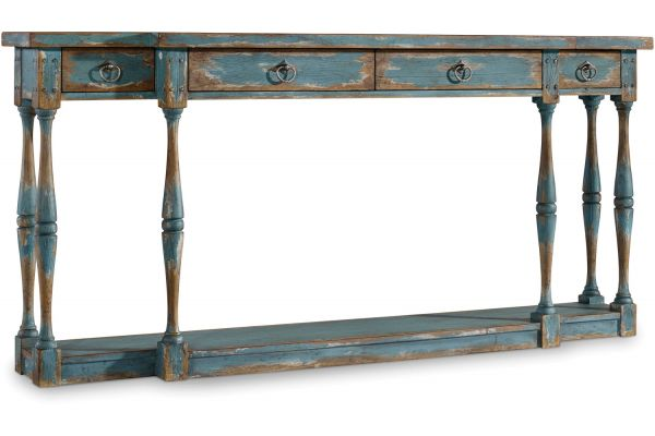 Large image of Hooker Furniture Living Room Sanctuary Four-Drawer Thin Console - 5405-85003