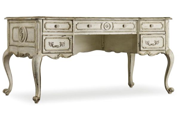 Large image of Hooker Furniture Relaxed Off White La Maison Writing Desk - 5437-10458