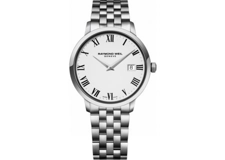 Raymond Weil Toccata Steel On Steel White Dial Mens Watch - 5488ST00300