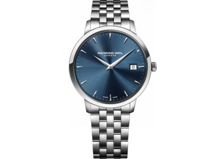 Raymond Weil Toccata 42mm Blue Dial Stainless Steel Mens Watch - 5588ST50001