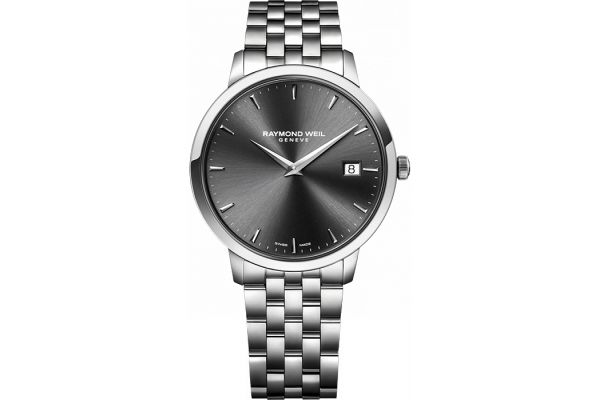 Raymond Weil Toccata 42mm Grey Dial Stainless Steel Mens Watch - 5588ST60001