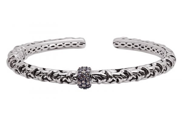 Large image of Charles Krypell Ivy Brown Diamond Sterling Silver Bracelet - 56518SBRP