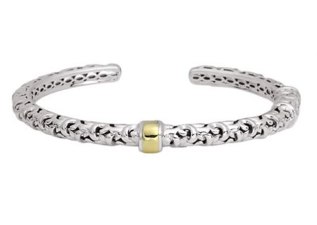 Charles Krypell Ivy Two-Tone Sterling Silver And Gold Bracelet  - 5-6518-SG