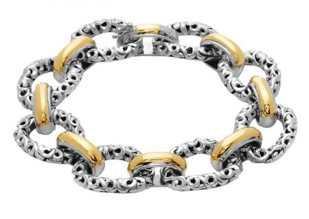 Charles Krypell Ivy Link Two-Tone Sterling Silver And Gold Bracelet  - 5-6709-SG