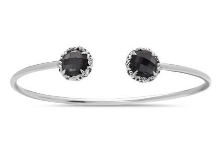 Charles Krypell Skye Sterling Silver And Hematite Bangle Bracelet  - 5-6943-HEM