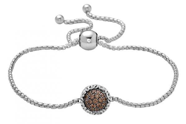Large image of Charles Krypell Brown Diamond Pave Bracelet - 56944SBRP