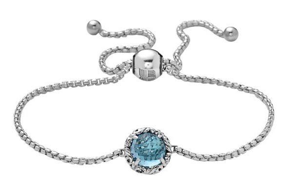 Charles Krypell Dylani Sterling Silver And Blue Topaz Bolo Bracelet  - 5-6944-SBT