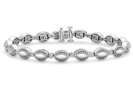 Charles Krypell Firefly Sterling Silver Link Bracelet  - 5-6963-FFS