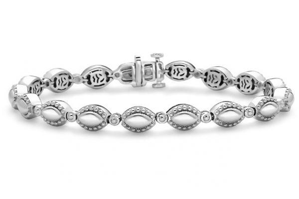 Large image of Charles Krypell Firefly Sterling Silver Link Bracelet  - 56963FFS