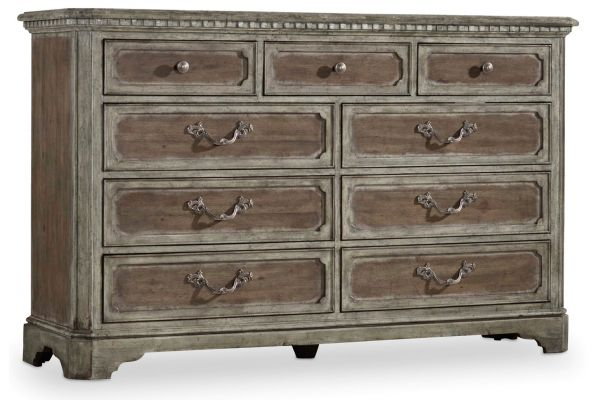 Large image of Hooker Furniture Soft Driftwood True Vintage Dresser - 5701-90002
