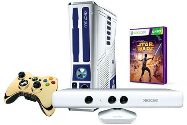 Microsoft Xbox 360 Slim 320GB Limited Edition Kinect Star Wars Bundle - 5XK001
