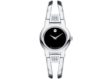 Movado Amorosa Stainless Steel Diamond Bangle Ladies Watch - 0604982