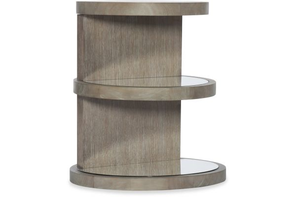 Large image of Hooker Furniture Living Room Affinity Round End Table - 6050-80114-GRY