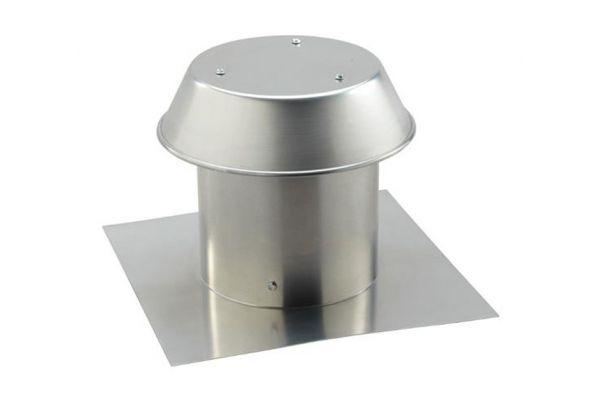 "Large image of Broan Aluminum 8"" Roof Cap - 611"