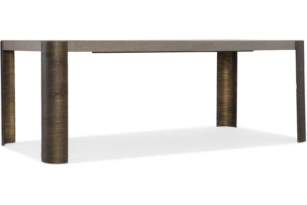 "Hooker Furniture Miramar Carmel Rosetti 82"" Dining Table - 6200-75200-GRY"