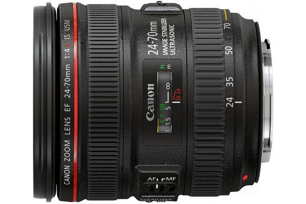 Large image of Canon EF 24-70mm f/4L IS USM Lens - 6313B002