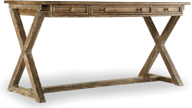 Furniture Light Wood Home Office Melange Bennett X Base Writing Desk 638