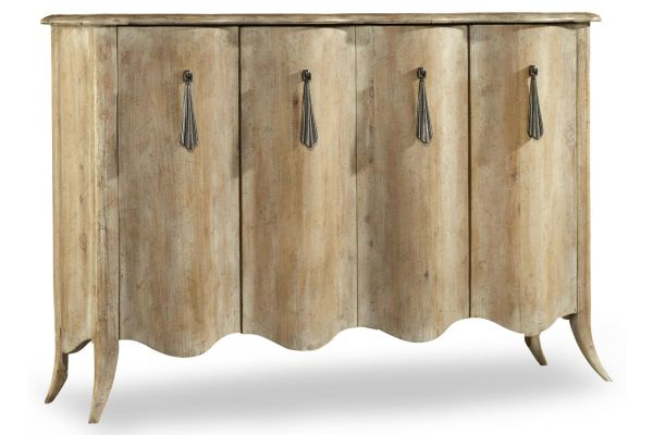 Large image of Hooker Furniture Light Wood Melange Draped Credenza - 638-85191