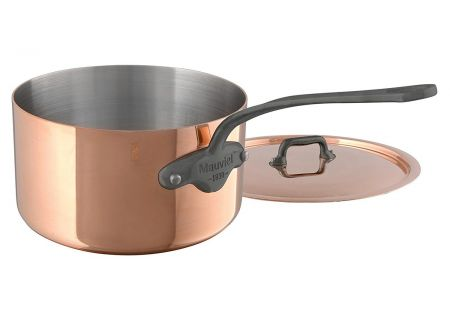 Mauviel M150c2 2.7 Qt. Copper And Stainless Steel Saucepan With Lid - 645019