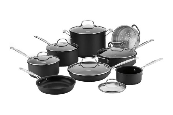Large image of Cuisinart Hard Anodized 14-Piece Cookware Set - 66-14N