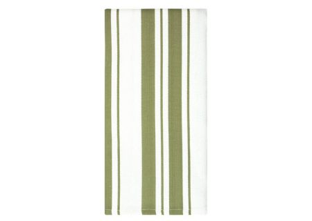 "MUkitchen Sand 20"" x 30"" Cotton Stripe Dishtowel - 6617-1519"