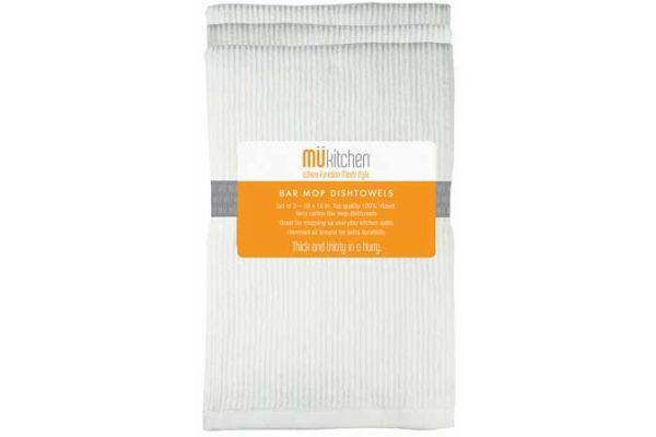 MUkitchen 3 Pc. Set White Bar Mop Dishtowels - 66201200