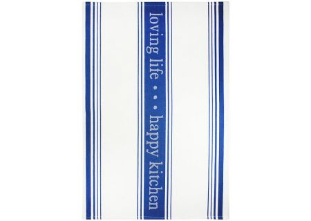 MUkitchen Indigo Cotton Jacquard Towels - 6628-1215