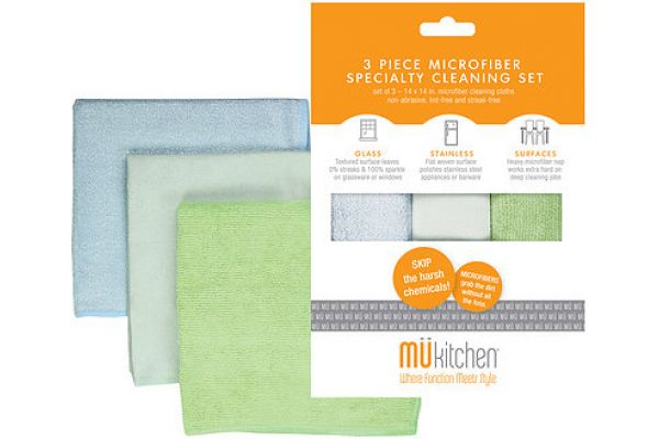 Large image of MUkitchen Multisurface Microfiber Cleaning Cloths - 66501100