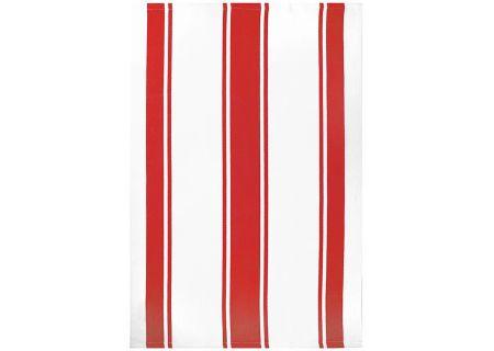 "MUkitchen 20"" X 30"" Cotton Classic Crimson Stripe Dishtowel - 66901706"
