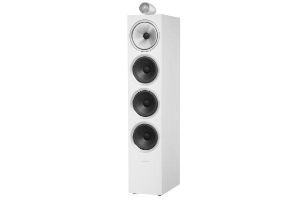 Large image of Bowers & Wilkins 700 Series Satin White 3-Way Floorstanding Speaker (Each) - FP39365