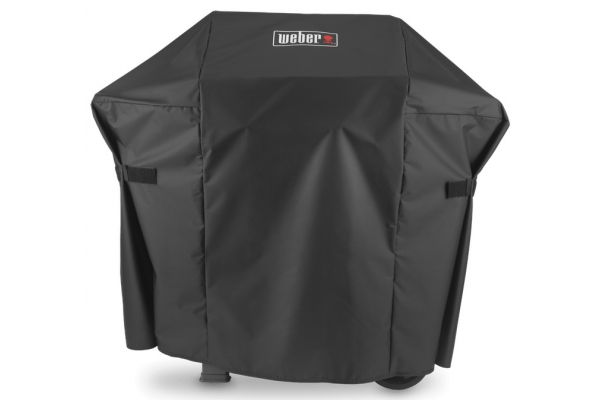 Large image of Weber Spirit 200 & Spirit II 200 Series Premium Black Grill Cover - 7138
