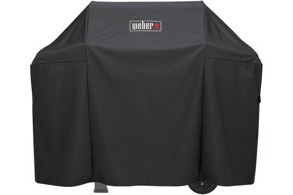 Large image of Weber Spirit II Premium Black 3 Burner Grill Cover - 7139