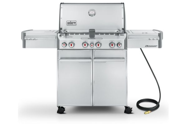 Weber Summit S-470 Natural Gas Stainless Steel Outdoor Grill - 7270001